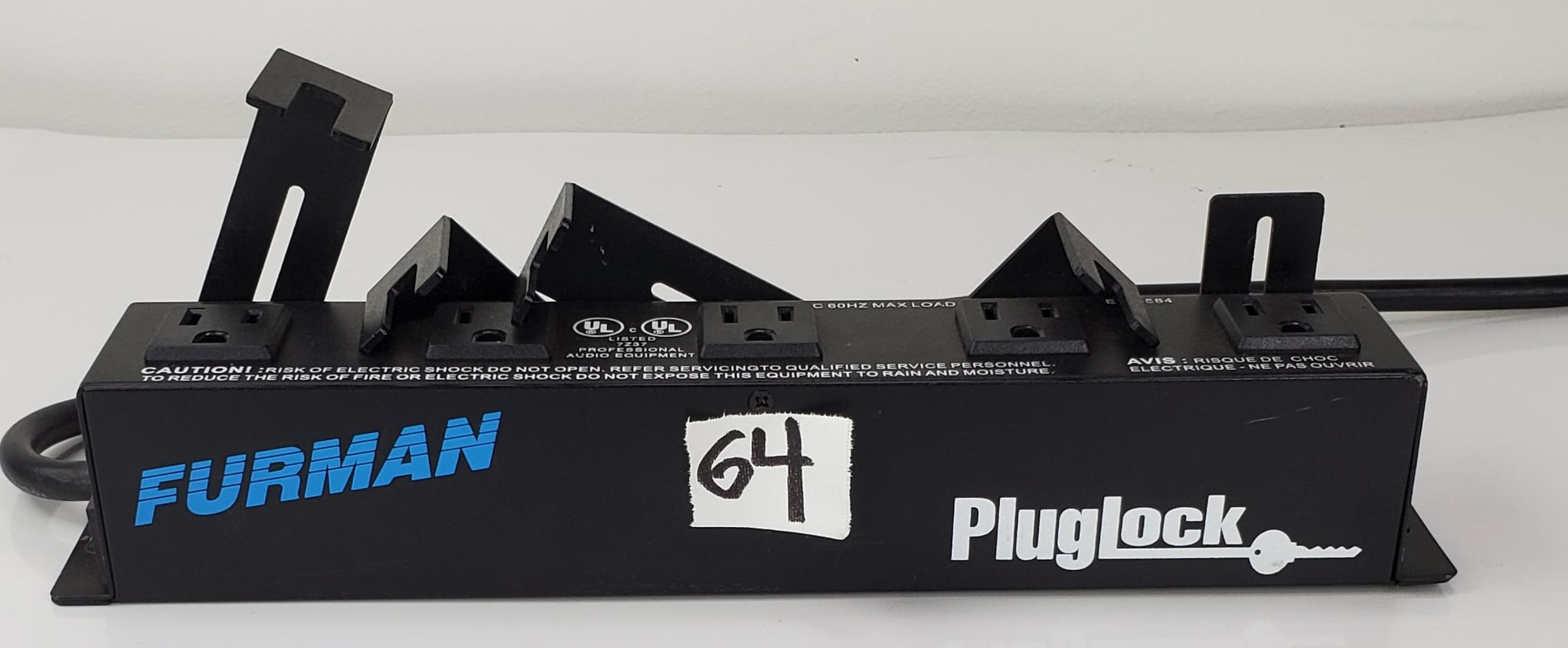 "Featuring the PLUGLOCK 12A Power Distribution Strip (No Surge Protection), with 5 Spaced Outlets from Furman. This power strip has a sturdy and durable design and has been made using all steel construction design, with a heavy-duty 5' (14AWG) three conductor cord. The PLUGLOCK circuit-breaker protected locking outlet strip provides enough wall-wart spacing for five bulky transformers and can be safely mounted out of sight, in the rear of your rack. The secure, adjustable, clamping design can accommodate transformers and plugs from 0.4"" to 2.1"" above each outlet. The clamps lock your transformers and conventional plugs in place, relieving the worry of getting disconnected from the power source"